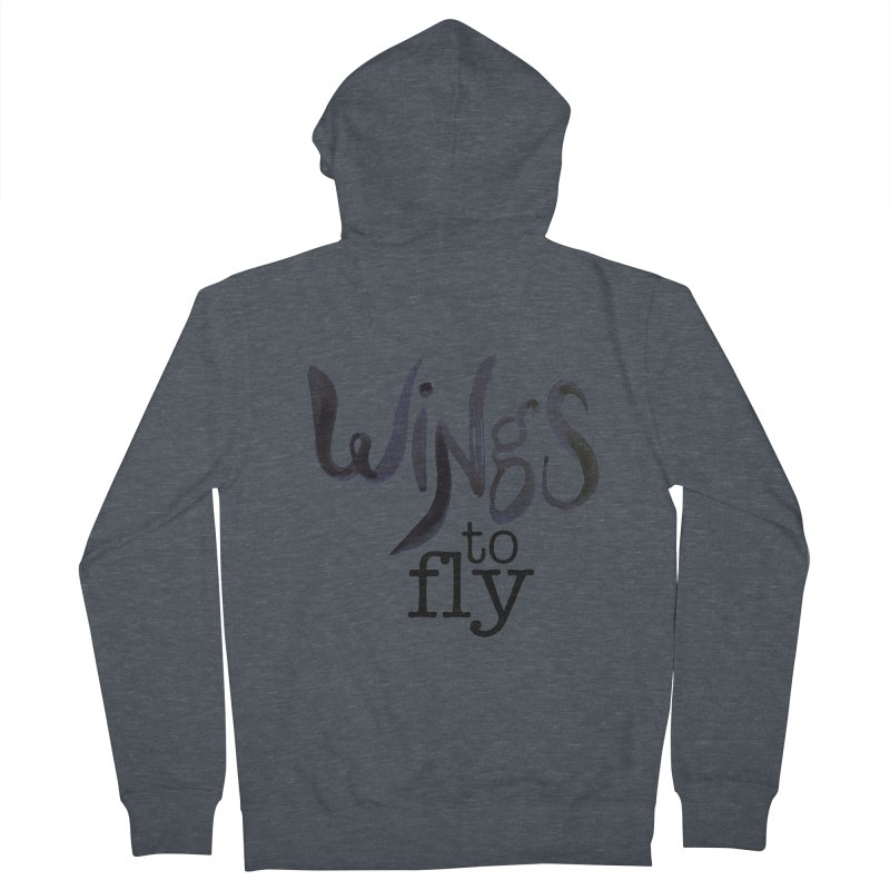 Wings To Fly Brushstroke Men's Zip-Up Hoody by wingstofly's Artist Shop