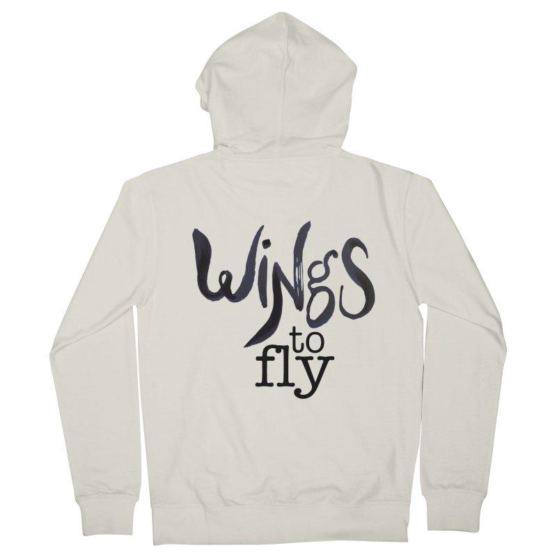 Wings To Fly Brushstroke Men's Zip-Up Hoody by wingstofly's Artist Shop