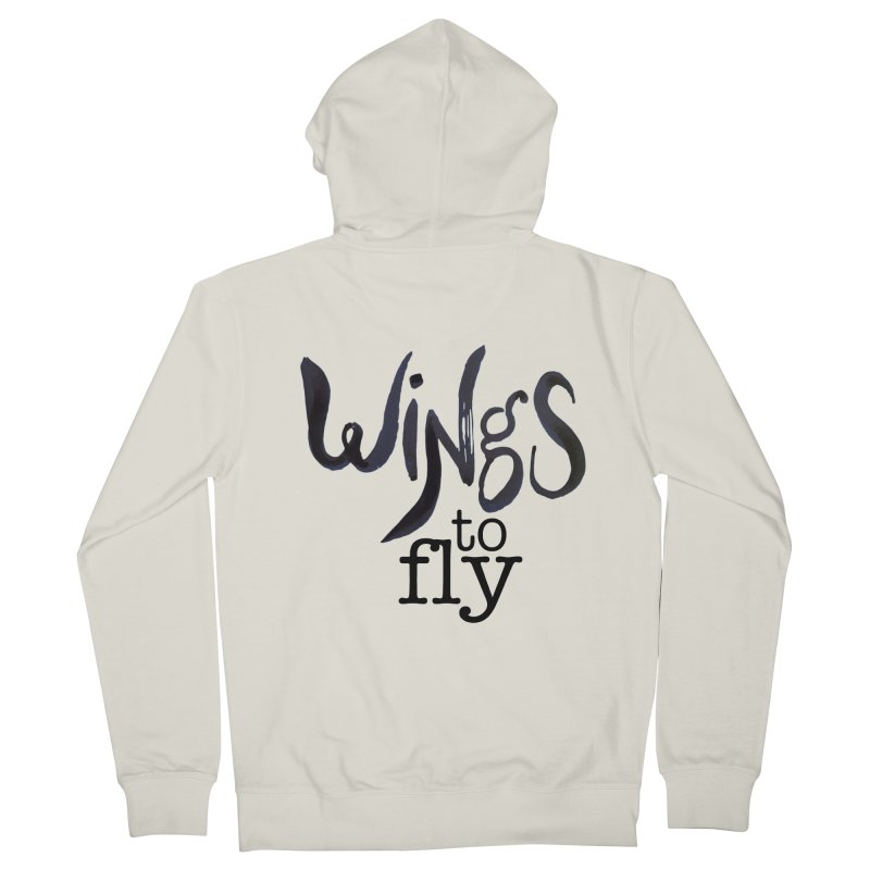 Wings To Fly Brushstroke Men's French Terry Zip-Up Hoody by wingstofly's Artist Shop