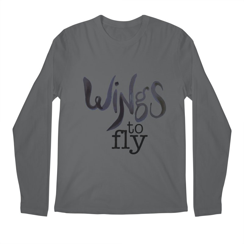 Wings To Fly Brushstroke Men's Longsleeve T-Shirt by wingstofly's Artist Shop