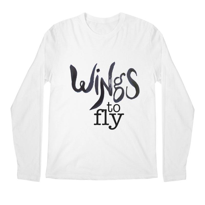 Wings To Fly Brushstroke Men's Longsleeve T-Shirt by wingstofly's Artist Shop