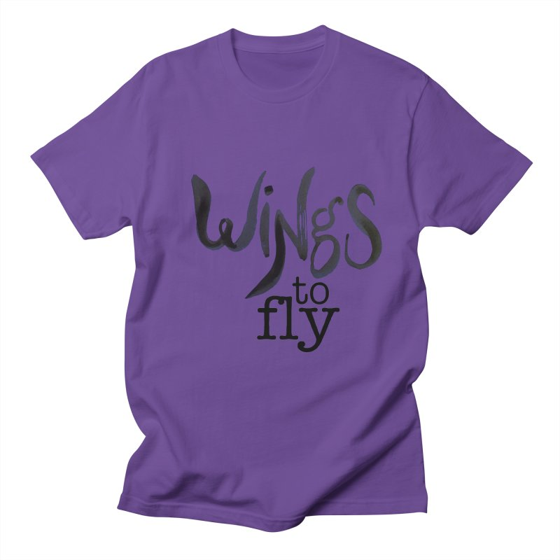 Wings To Fly Brushstroke Men's Regular T-Shirt by wingstofly's Artist Shop