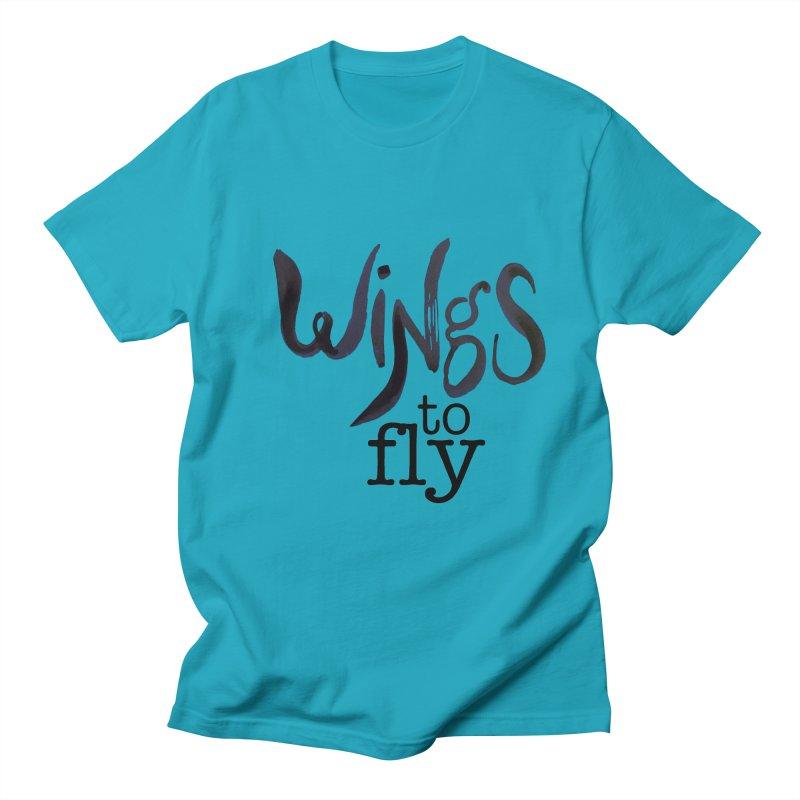Wings To Fly Brushstroke Men's T-shirt by wingstofly's Artist Shop