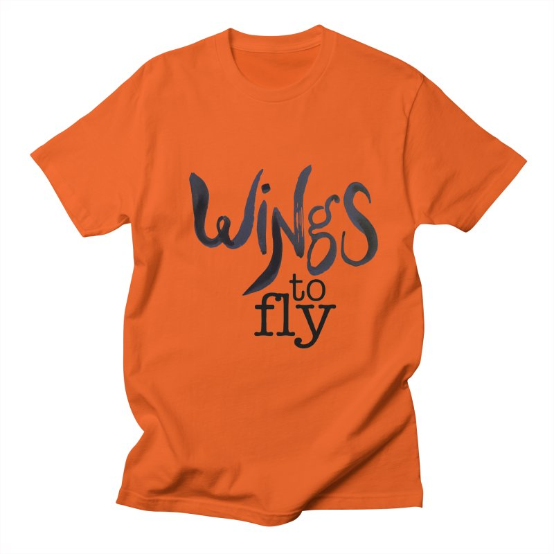 Wings To Fly Brushstroke Men's Regular T-Shirt by wingstofly's Artist Shop