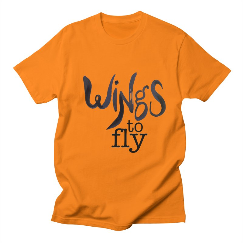 Wings To Fly Brushstroke Men's T-Shirt by wingstofly's Artist Shop