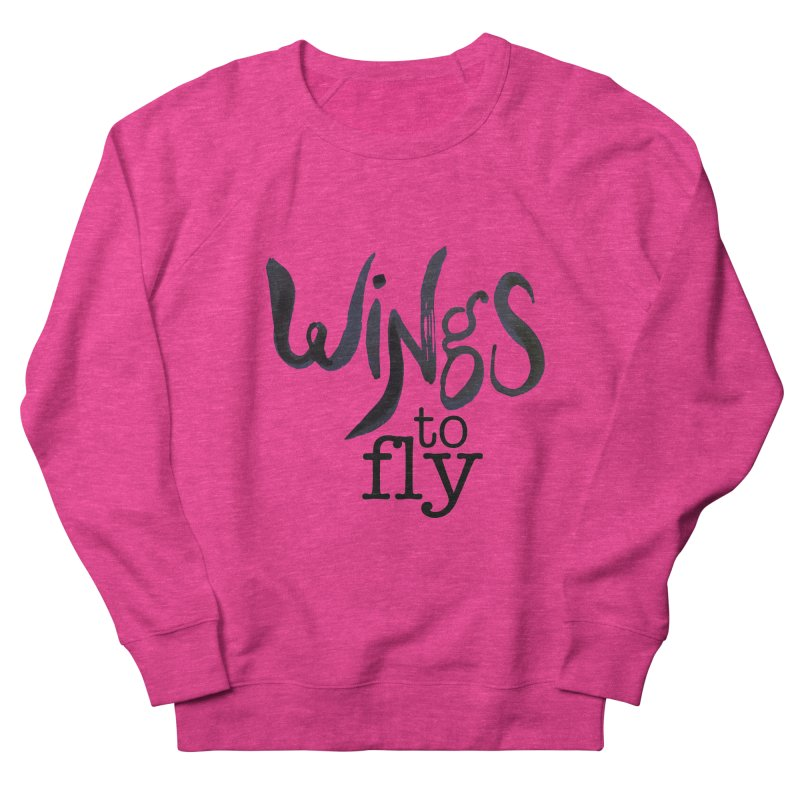 Wings To Fly Brushstroke Men's Sweatshirt by wingstofly's Artist Shop