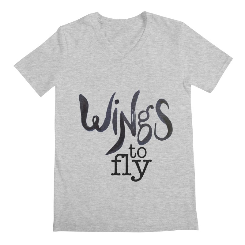 Wings To Fly Brushstroke Men's V-Neck by wingstofly's Artist Shop