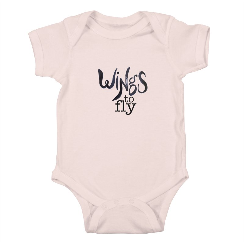 Wings To Fly Brushstroke Kids Baby Bodysuit by wingstofly's Artist Shop