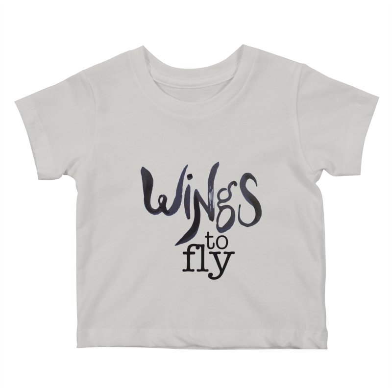 Wings To Fly Brushstroke Kids Baby T-Shirt by wingstofly's Artist Shop