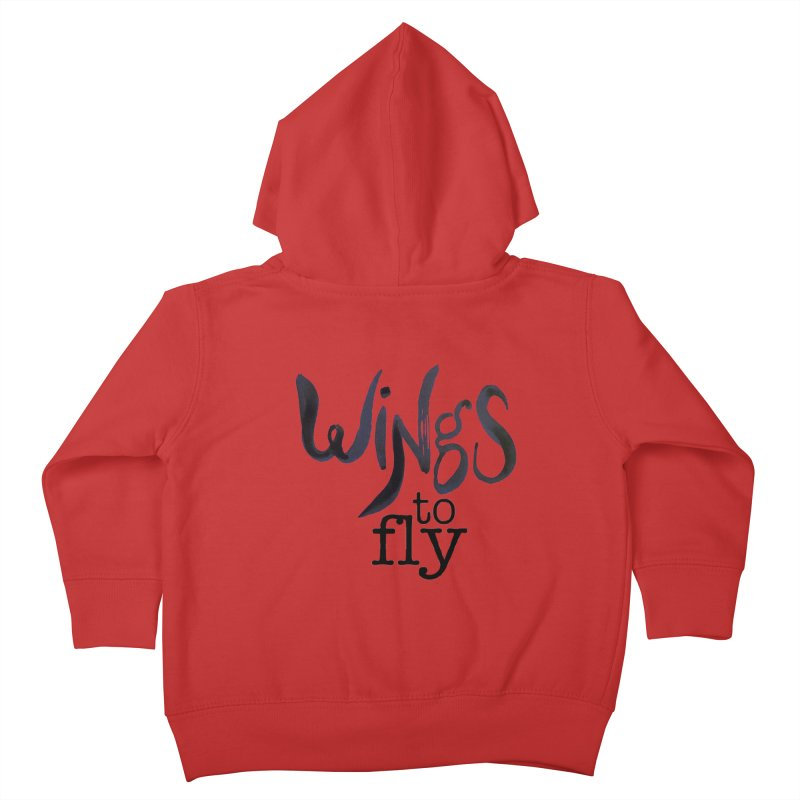 Wings To Fly Brushstroke Kids Toddler Zip-Up Hoody by wingstofly's Artist Shop