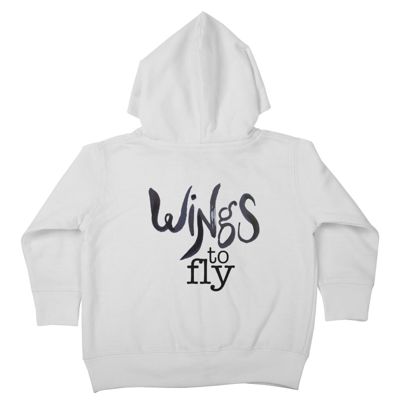 Wings To Fly Brushstroke Kids Toddler Zip-Up Hoody by wingstofly's Artist Shop