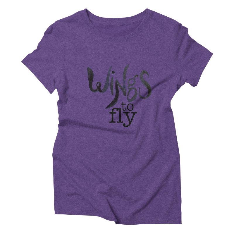 Wings To Fly Brushstroke Women's Triblend T-shirt by wingstofly's Artist Shop