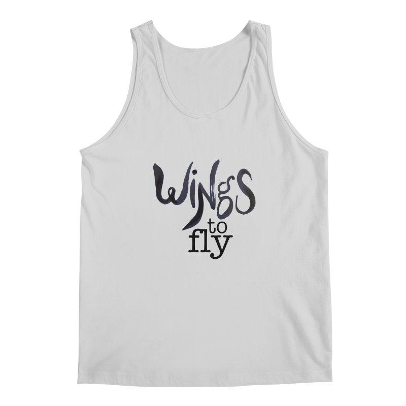 Wings To Fly Brushstroke Men's Tank by wingstofly's Artist Shop