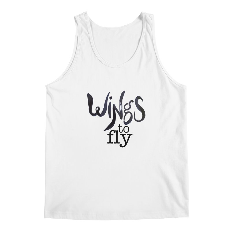 Wings To Fly Brushstroke Men's Tank by wingstofly's Artist Shop