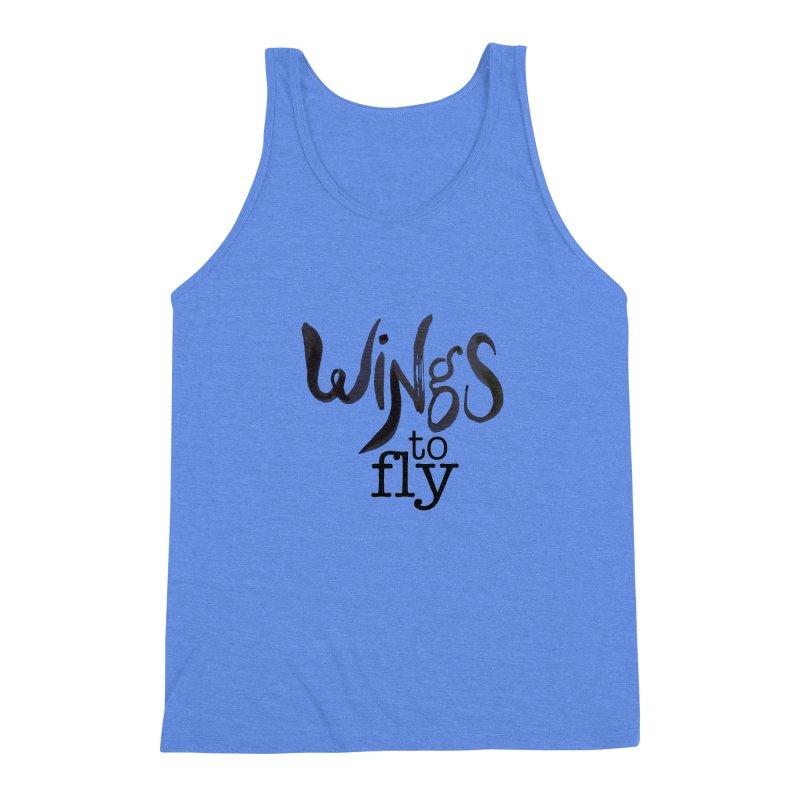 Wings To Fly Brushstroke Men's Triblend Tank by wingstofly's Artist Shop