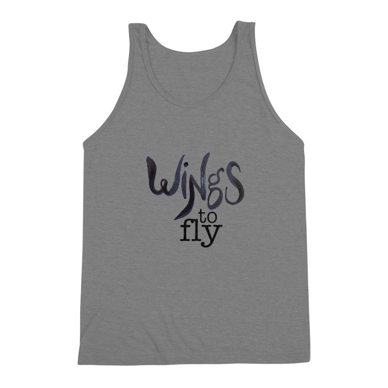 Wings To Fly Brushstroke Men's Triblend Tank by wingstofly's Artist Shop