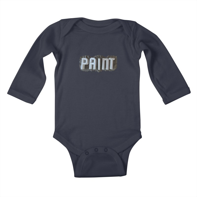 Vintage Paint Kids Baby Longsleeve Bodysuit by wingstofly's Artist Shop