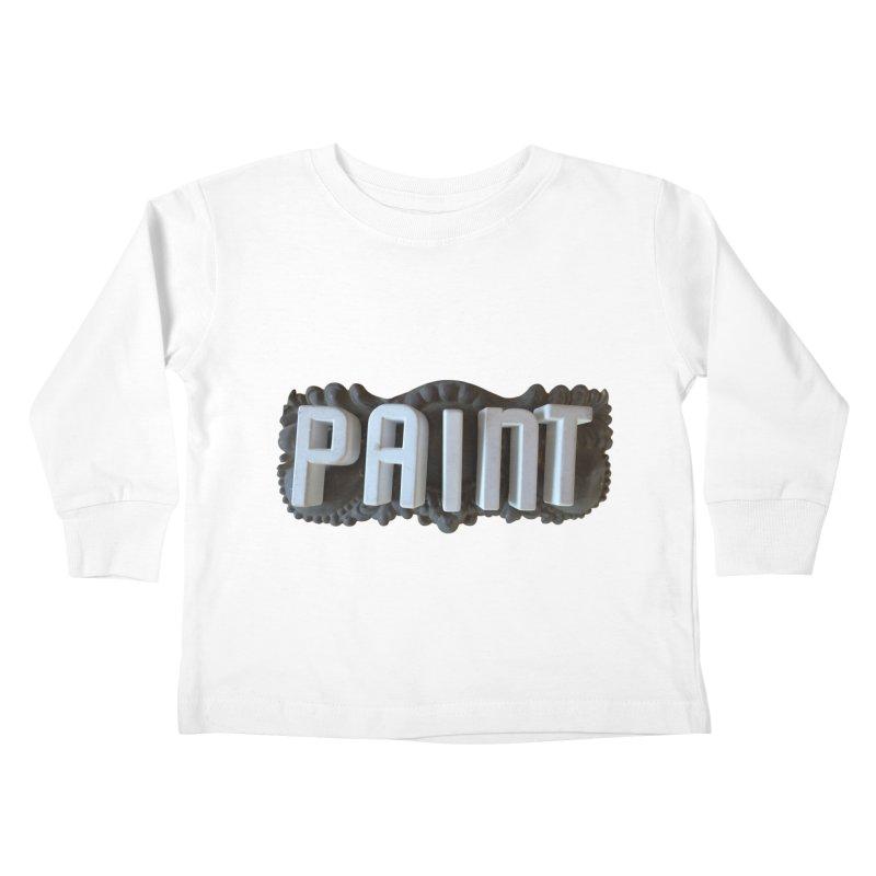 Vintage Paint Kids Toddler Longsleeve T-Shirt by wingstofly's Artist Shop