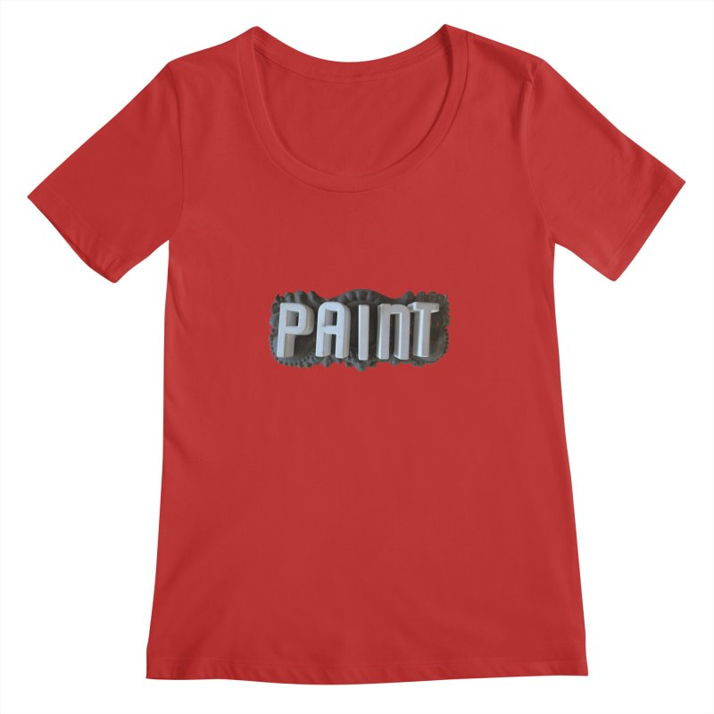 Vintage Paint Women's Scoopneck by wingstofly's Artist Shop
