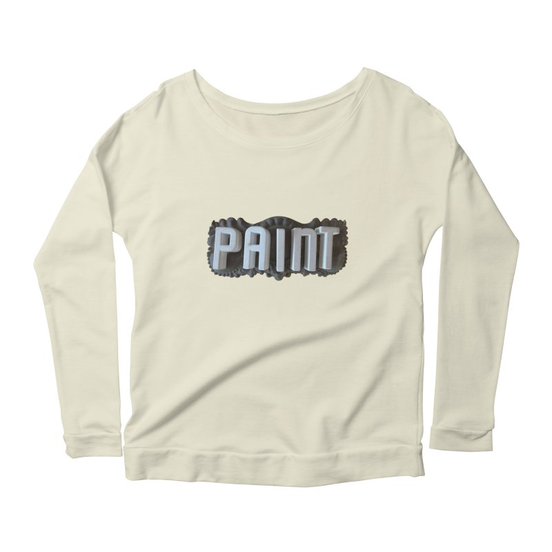 Vintage Paint Women's Longsleeve Scoopneck  by wingstofly's Artist Shop