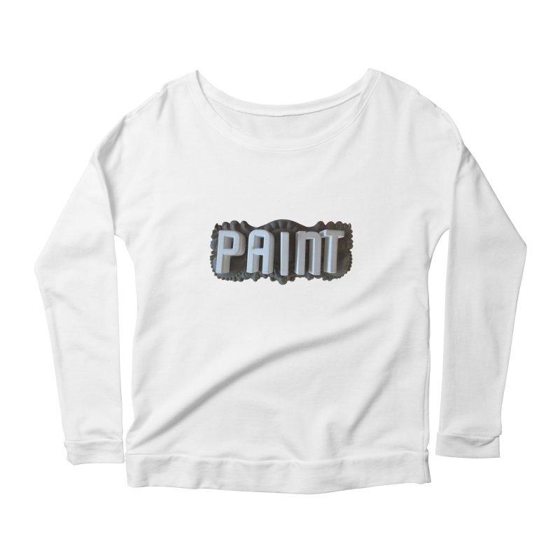 Vintage Paint Women's Scoop Neck Longsleeve T-Shirt by wingstofly's Artist Shop