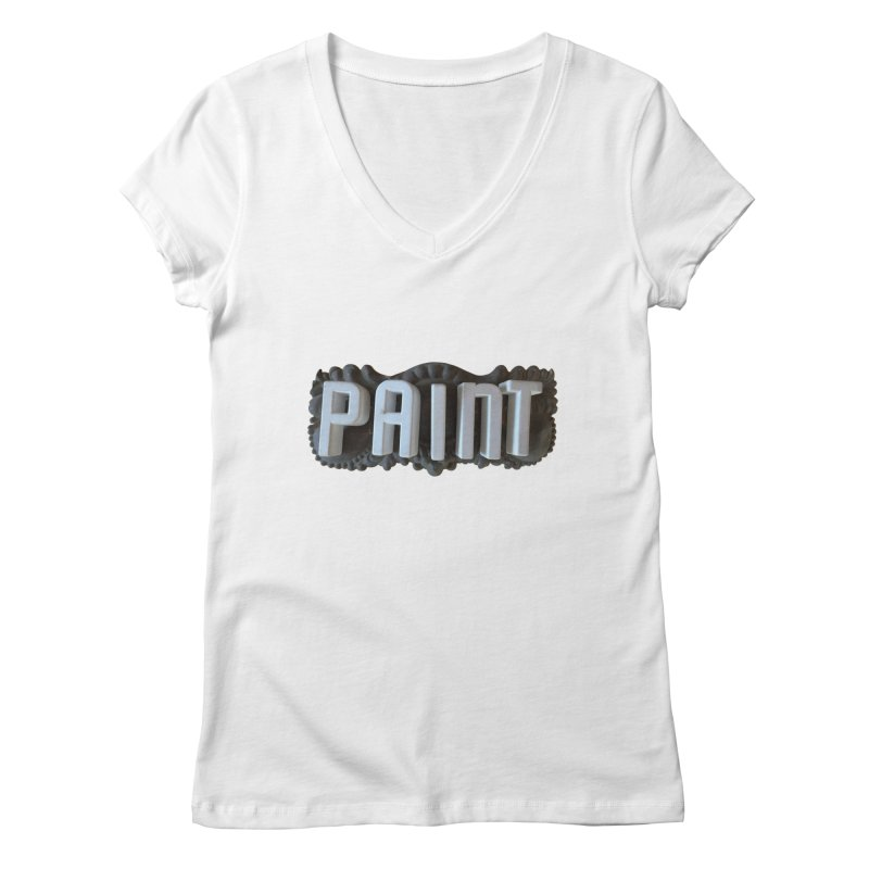 Vintage Paint Women's Regular V-Neck by wingstofly's Artist Shop