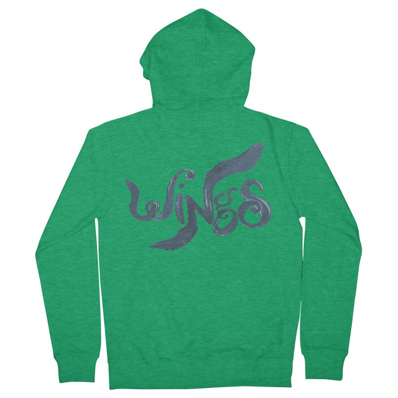 Outstretched Wings Men's Zip-Up Hoody by wingstofly's Artist Shop