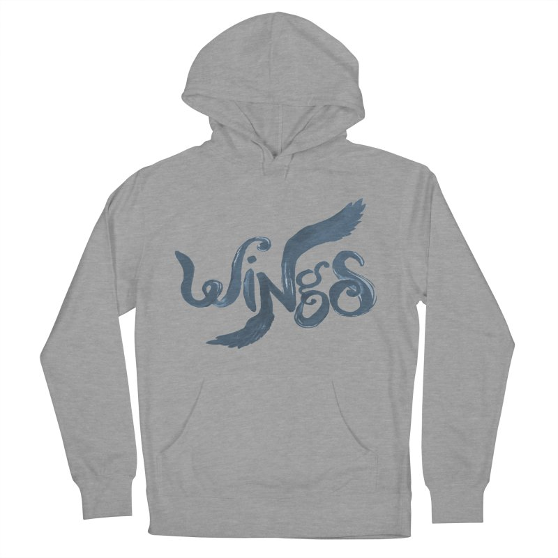 Outstretched Wings Men's French Terry Pullover Hoody by wingstofly's Artist Shop