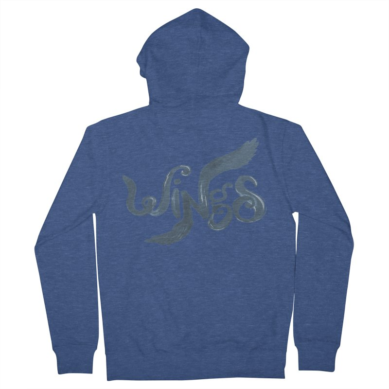 Outstretched Wings Women's French Terry Zip-Up Hoody by wingstofly's Artist Shop