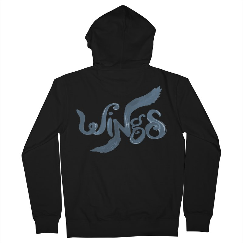 Outstretched Wings Women's Zip-Up Hoody by wingstofly's Artist Shop
