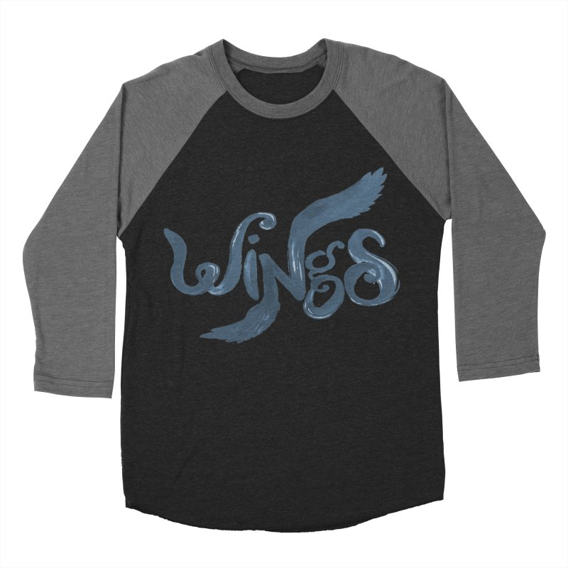 Outstretched Wings Men's Baseball Triblend T-Shirt by wingstofly's Artist Shop