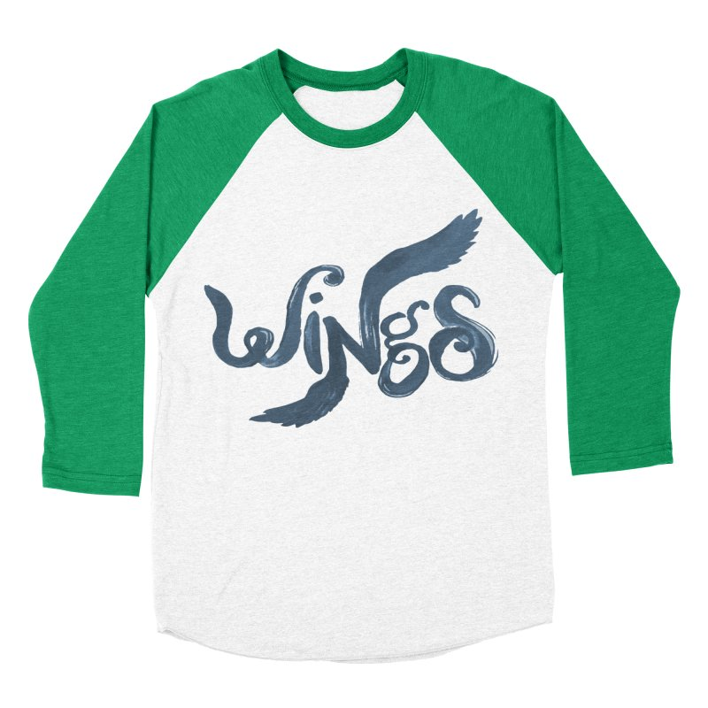 Outstretched Wings Men's Baseball Triblend Longsleeve T-Shirt by wingstofly's Artist Shop