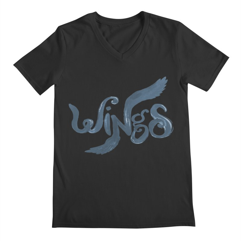 Outstretched Wings Men's V-Neck by wingstofly's Artist Shop