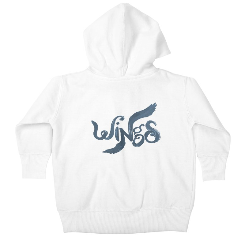 Outstretched Wings Kids Baby Zip-Up Hoody by wingstofly's Artist Shop