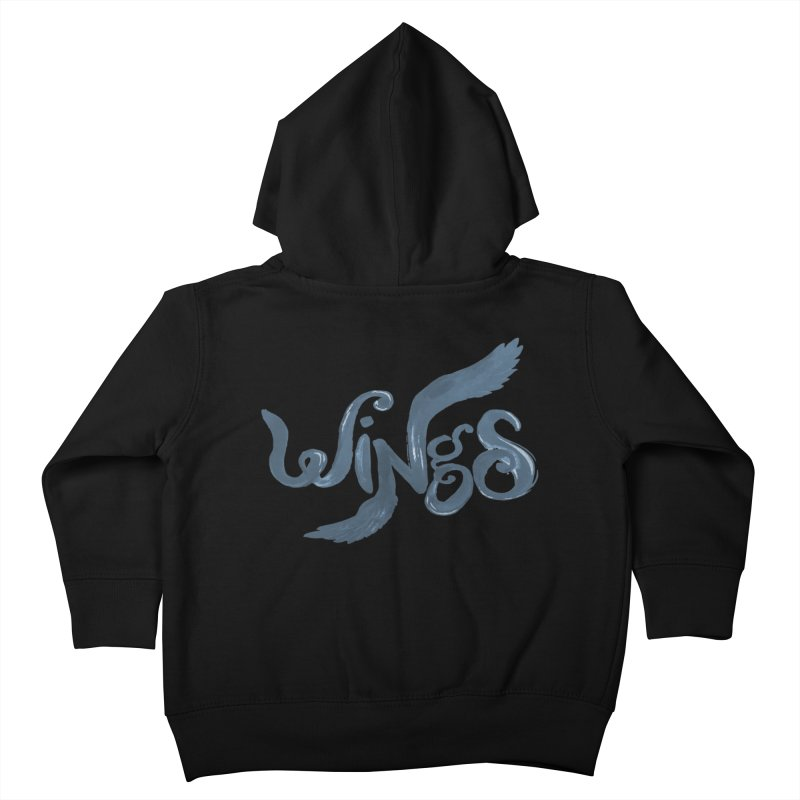 Outstretched Wings Kids Toddler Zip-Up Hoody by wingstofly's Artist Shop