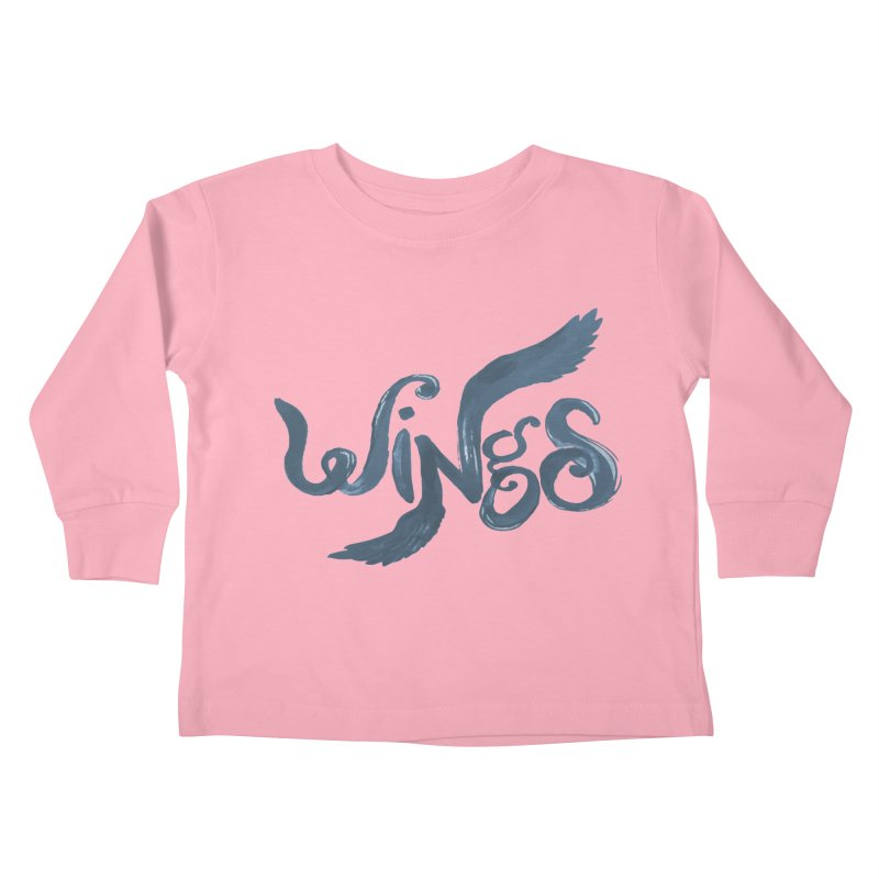 Outstretched Wings Kids Toddler Longsleeve T-Shirt by wingstofly's Artist Shop