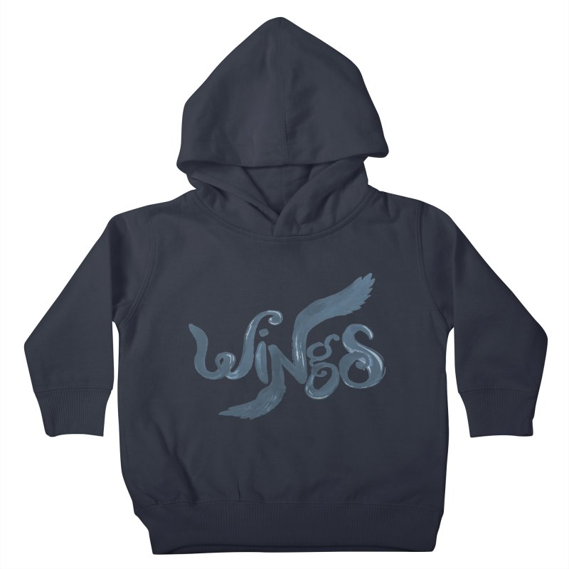 Outstretched Wings Kids Toddler Pullover Hoody by wingstofly's Artist Shop