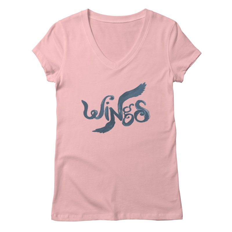 Outstretched Wings Women's Regular V-Neck by wingstofly's Artist Shop