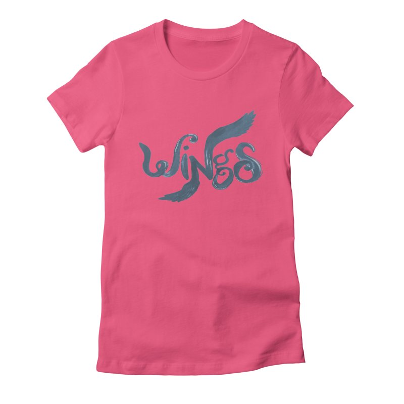 Outstretched Wings Women's Fitted T-Shirt by wingstofly's Artist Shop