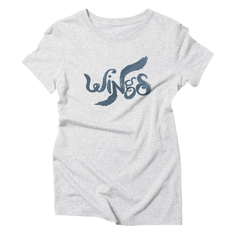 Outstretched Wings Women's Triblend T-Shirt by wingstofly's Artist Shop
