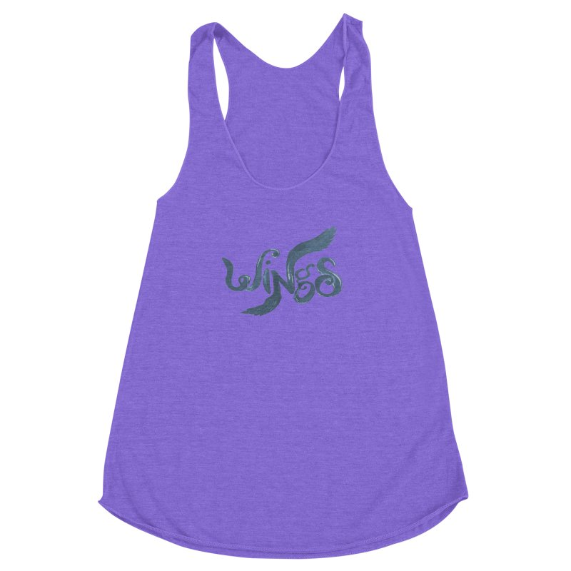 Outstretched Wings Women's Racerback Triblend Tank by wingstofly's Artist Shop