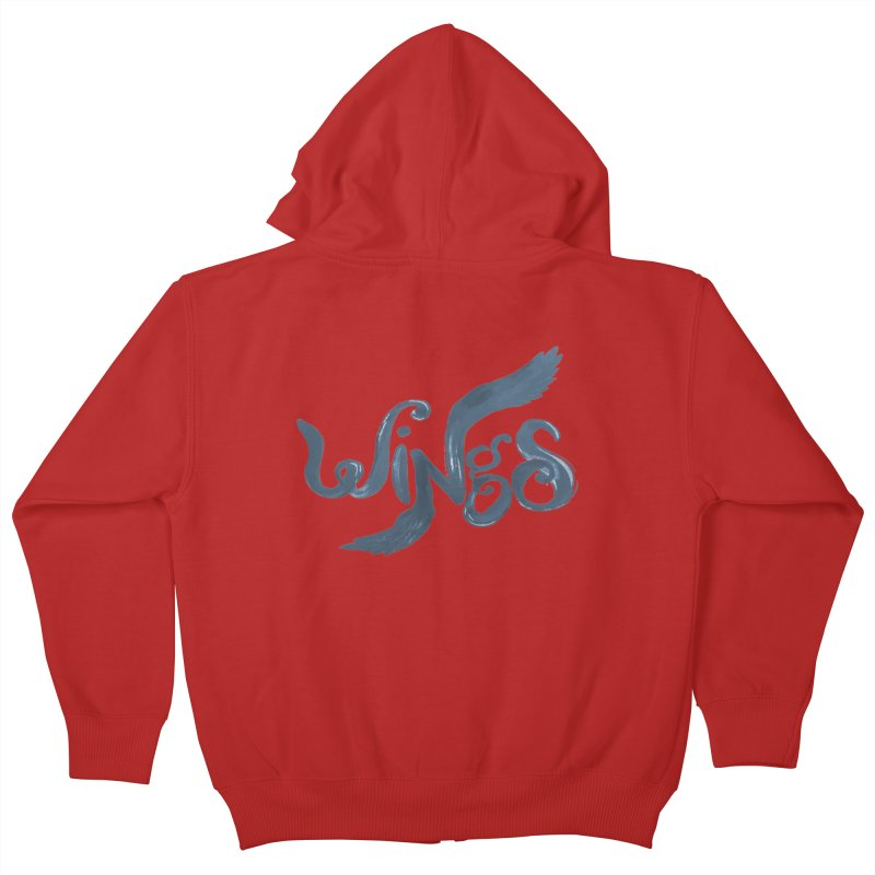 Outstretched Wings Kids Zip-Up Hoody by wingstofly's Artist Shop