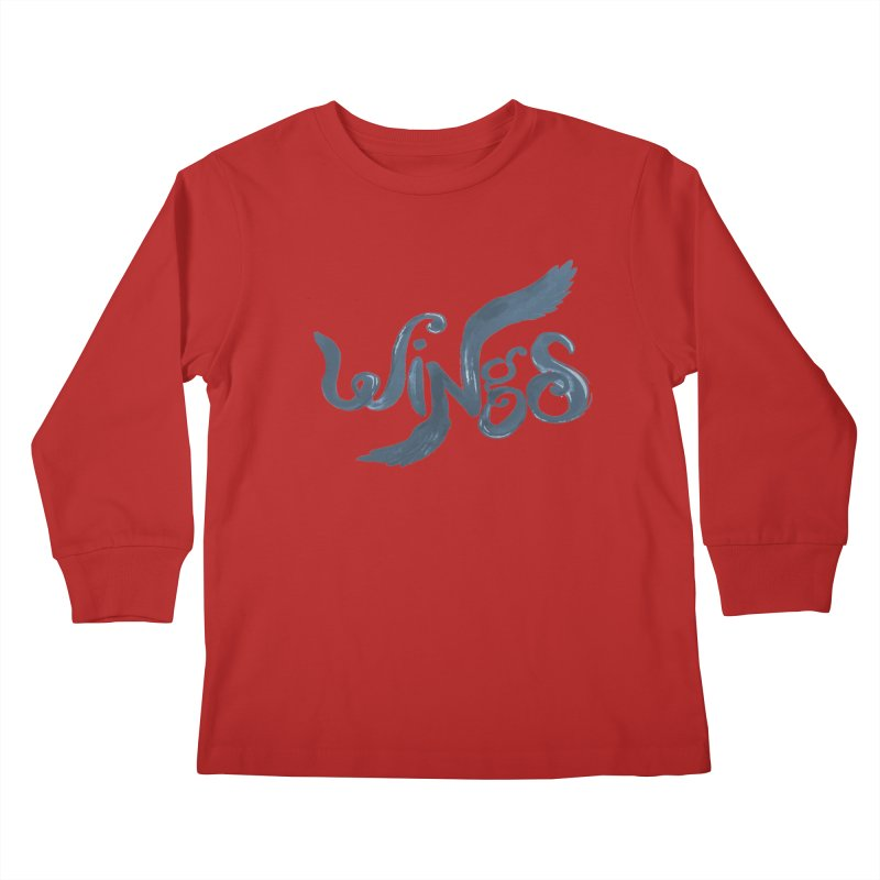 Outstretched Wings Kids Longsleeve T-Shirt by wingstofly's Artist Shop