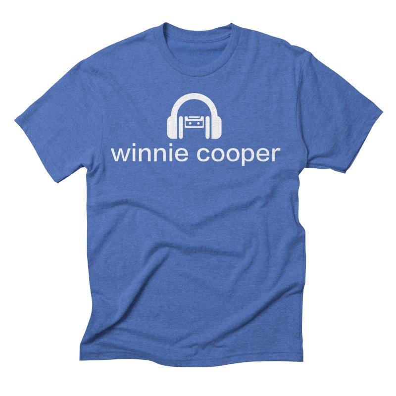 Winnie Cooper Logo Wide White on Black Men's Triblend T-Shirt by Winnie Cooper's Artist Shop