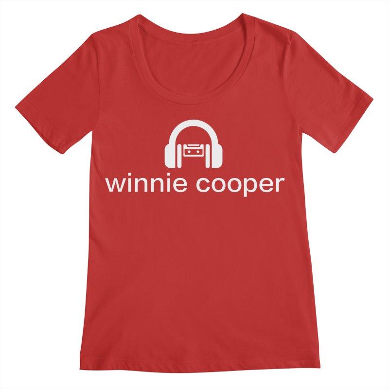 Winnie Cooper Logo Wide White on Black Women's Regular Scoop Neck by Winnie Cooper's Artist Shop