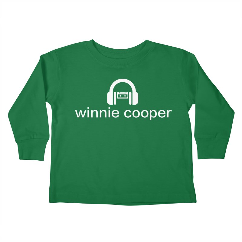 Winnie Cooper Logo Wide White on Black Kids Toddler Longsleeve T-Shirt by Winnie Cooper's Artist Shop