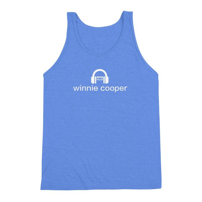 Winnie Cooper Logo Wide White on Black Men's Triblend Tank by Winnie Cooper's Artist Shop