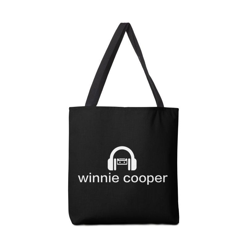 Winnie Cooper Logo Wide White on Black Accessories Tote Bag Bag by Winnie Cooper's Artist Shop