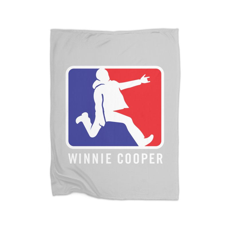 Winnie Cooper Sports Logo Home Fleece Blanket Blanket by Winnie Cooper's Artist Shop