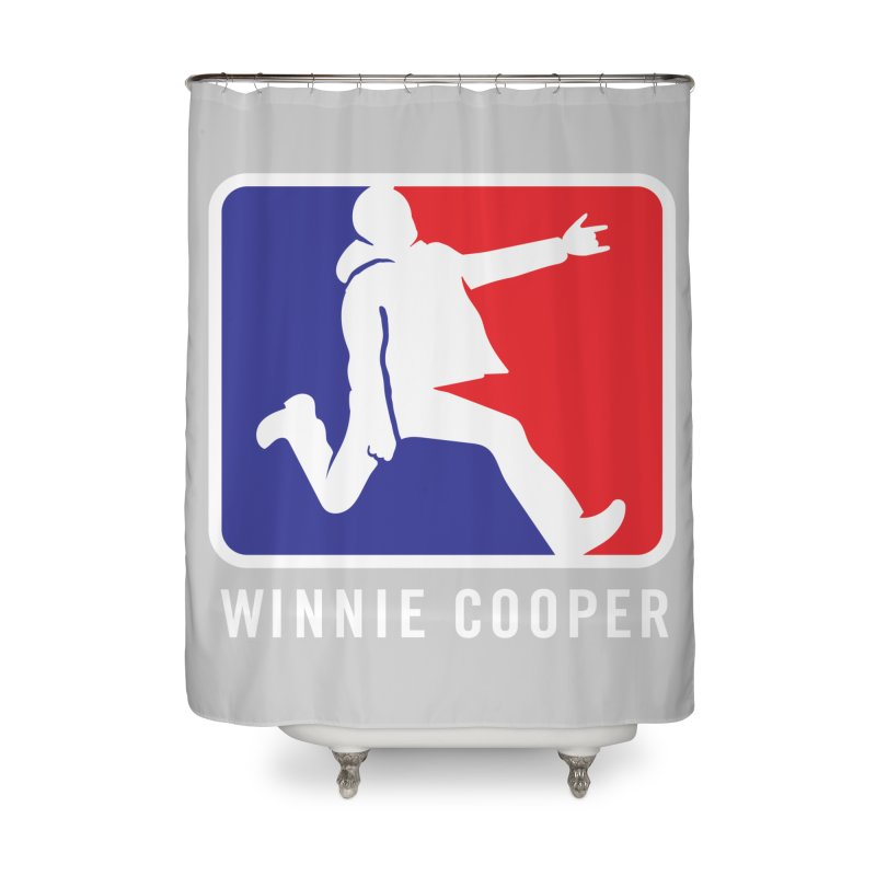 Winnie Cooper Sports Logo Home Shower Curtain by Winnie Cooper's Artist Shop